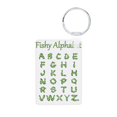 Fishy Alphabet Aluminum Photo Keychain