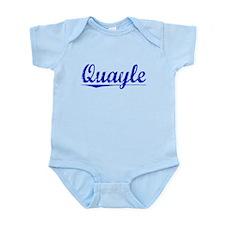 Quayle, Blue, Aged Infant Bodysuit