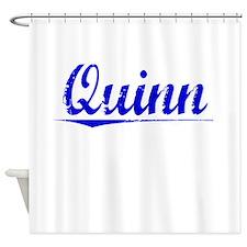 Quinn, Blue, Aged Shower Curtain