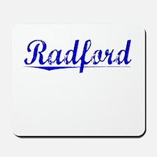 Radford, Blue, Aged Mousepad