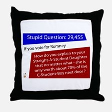 What is your Daughter Worth? Throw Pillow