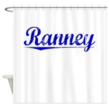 Ranney, Blue, Aged Shower Curtain