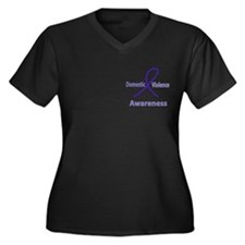 Domestic Violence Awareness Women's Plus Size V-Ne