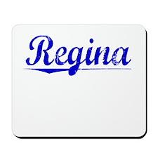 Regina, Blue, Aged Mousepad