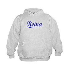 Reina, Blue, Aged Hoodie