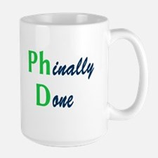Phinally Done Green Mug