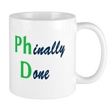 Phinally Done Green Mug