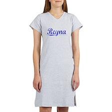 Reyna, Blue, Aged Women's Nightshirt