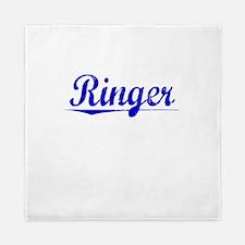 Ringer, Blue, Aged Queen Duvet
