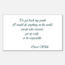 Wilde - to get back my youth Rectangle Decal