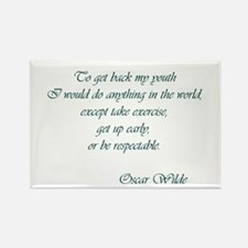 Wilde - to get back my youth Rectangle Magnet