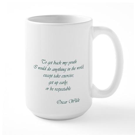 Wilde - to get back my youth Large Mug