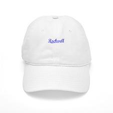 Rockwell, Blue, Aged Baseball Cap