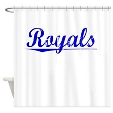 Royals, Blue, Aged Shower Curtain