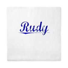 Rudy, Blue, Aged Queen Duvet