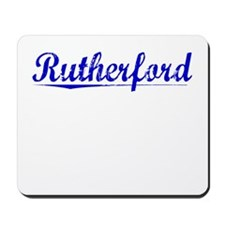 Rutherford, Blue, Aged Mousepad