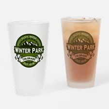 Winter Park Olive Drinking Glass