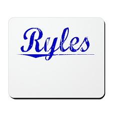 Ryles, Blue, Aged Mousepad