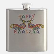 Happy Kwanzaa Flask