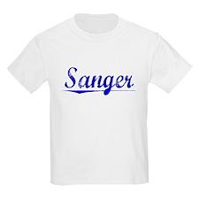 Sanger, Blue, Aged T-Shirt