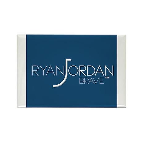 Ryan Jordan - Brave Rectangle Magnet