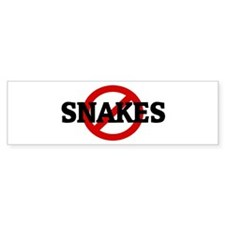 Anti SNAKES Bumper Bumper Sticker