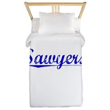 Sawyers, Blue, Aged Twin Duvet
