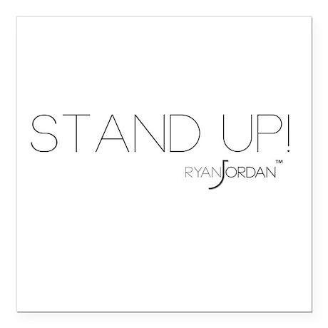 "Ryan Jordan - Stand Up Square Car Magnet 3"" x 3"""