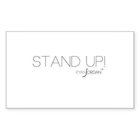 Ryan Jordan - Stand Up Sticker (Rectangle)