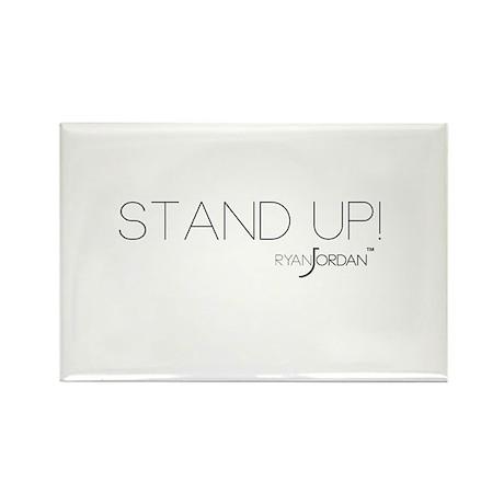 Ryan Jordan - Stand Up Rectangle Magnet