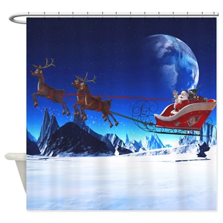 Santa Claus Shower Curtain