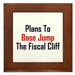 Plans To Base Jump The Fiscal Cliff Framed Tile
