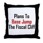 Plans To Base Jump The Fiscal Cliff Throw Pillow