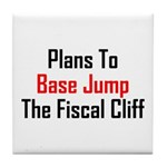 Plans To Base Jump The Fiscal Cliff Tile Coaster