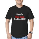 Plans To Base Jump The Fiscal Cliff Men's Fitted T