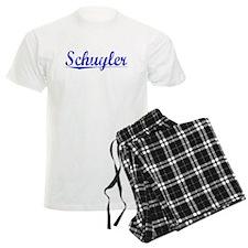 Schuyler, Blue, Aged pajamas