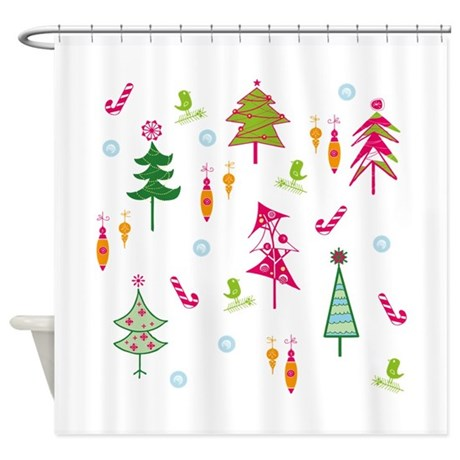 Christmas Shower Curtain By BrightDesign