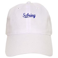Sebring, Blue, Aged Baseball Cap