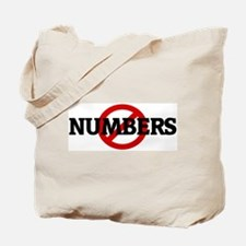 Anti NUMBERS Tote Bag
