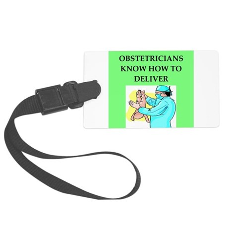 OBSTETRICIAN.png Large Luggage Tag