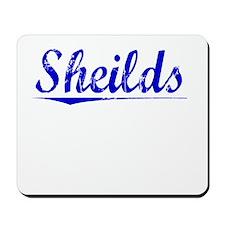 Sheilds, Blue, Aged Mousepad