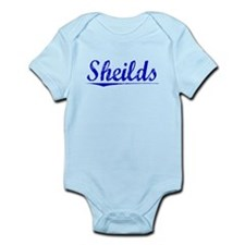Sheilds, Blue, Aged Infant Bodysuit