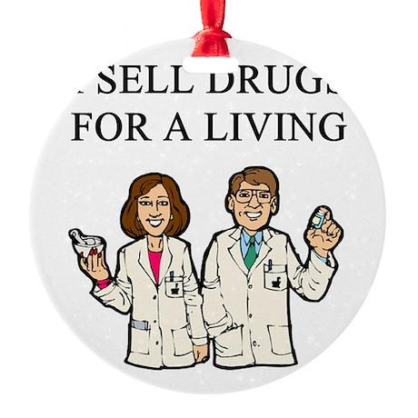 funny pharmacist joke gifts t-shirts Round Ornamen