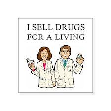 funny pharmacist joke gifts t-shirts Square Sticke