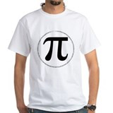 Pi Mens White T-shirts