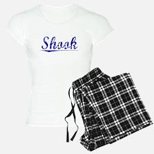 Shook, Blue, Aged Pajamas
