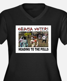 OBAMA ZOMBIES Women's Plus Size V-Neck Dark T-Shir