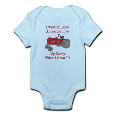 A Red Tractor Like Daddy Body Suit