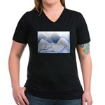 Blue Mountains Women's V-Neck Dark T-Shirt