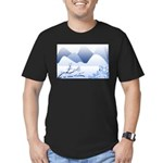 Blue Mountains Men's Fitted T-Shirt (dark)